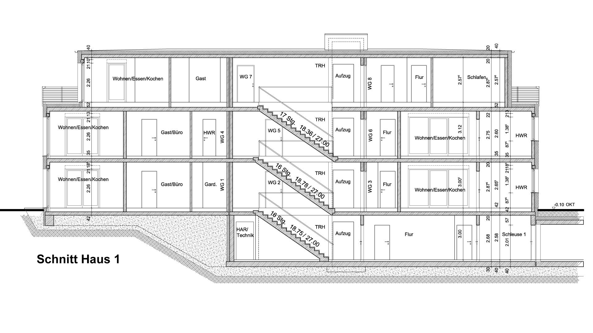 haus schnitt zeichnen haus mit zwei oben bzw einem. Black Bedroom Furniture Sets. Home Design Ideas